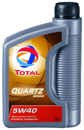 ТОТАL Quartz  9000, 5w-40,  синтетика, 1л, Франция