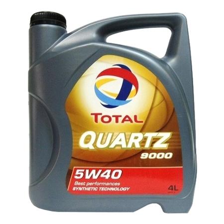 ТОТАL Quartz  9000, 5w-40,  синтетика, 4л, Франция