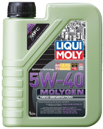 LIQUI MOLY Molygen New Generation, 5W/40, синтетика, 1л, Германия