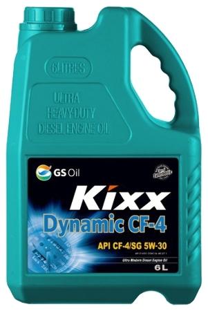 Kixx HD, 5W30, CF-4, DIESEL, (DYNAMIC), полусинтетика, 6л, Корея