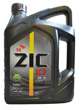 ZIC X7 Diesel , 5W30, SL/CF,  полусинтетика, 6л, Корея