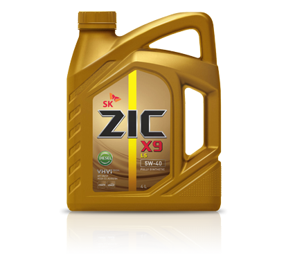 ZIC Х9, LS 5W40, SN/CF, моторное масло, синтетика, 4л, Корея