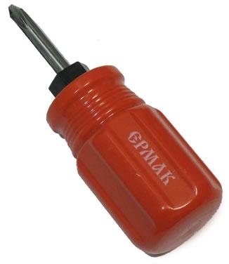 ЕРМАК  отвёртка 2в1 красная  6*38мм, 651963
