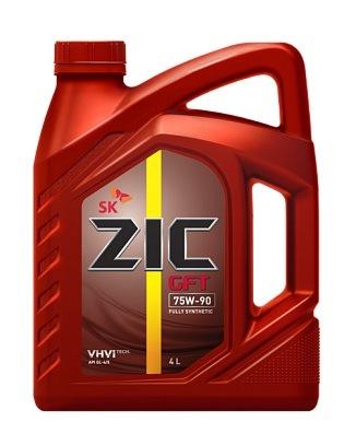ZIC GFT 75W90 API GL-4/5, трансмиссионное масло, синтетика, 4л, Корея