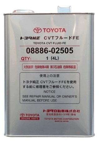 Toyota ATF CVT Fluid TC, трансмиссионное масло для вариаторов, 4л, Япония