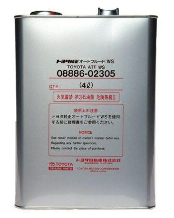 Toyota ATF WS, масло для АКПП, синтетика, 4л, Япония
