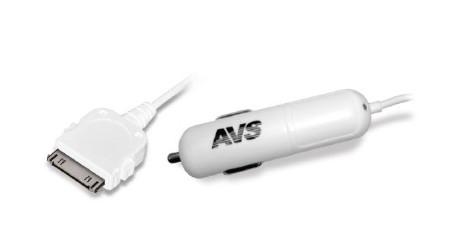 Автомобильное зарядное устройство AVS для iphone 4 09-10-003