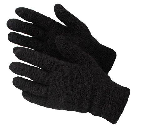 Перчатки ПОЛУШЕРСТЯНЫЕ ДВОЙНЫЕ, черные