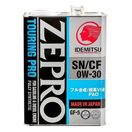 IDEMITSU  ZEPRO TOURING PRO F-S SN/CF, 0w-30, моторное масло,  синтетика, 4л, Япония