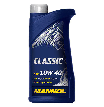 Mannol, 10w-40 Classic SN, полусинтетика, 1л, EU