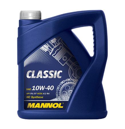 Mannol, 10w-40 Classic SN, полусинтетика, 4л, EU
