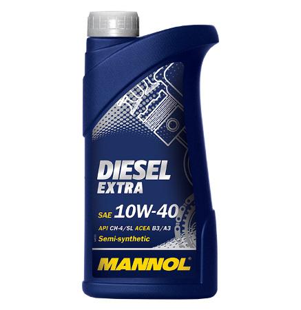 Mannol, 10w-40 Diesel Extra CH-4/SL, полусинтетика, 1л, EU