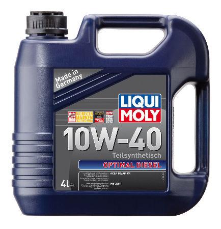 LIQUI MOLY Optimal Diese, 10W/40,  полусинтетика, 4л, Германия