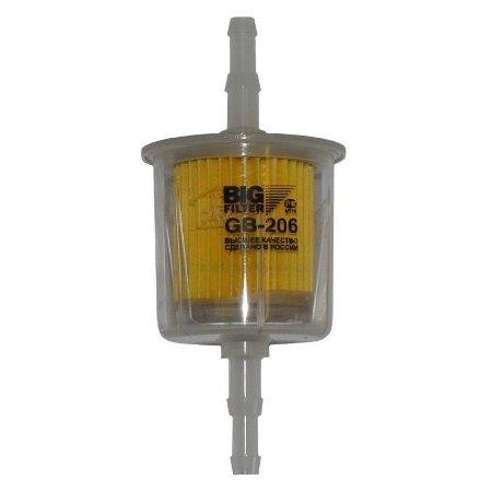 Фильтр топливный, BIG, GB-206, бензин прямоточный Россия