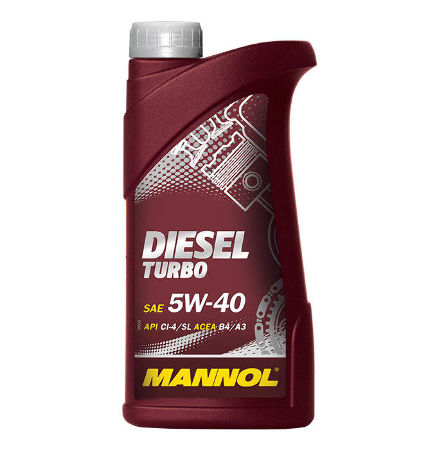 Mannol, 5w-40 Diesel Turbo CI-4/SL,  полусинтетика, 1л, EU