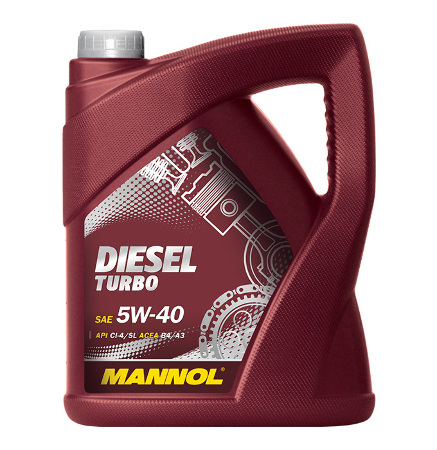 Mannol, 5w-40 Diesel Turbo CI-4/SL,  полусинтетика, 5л, EU