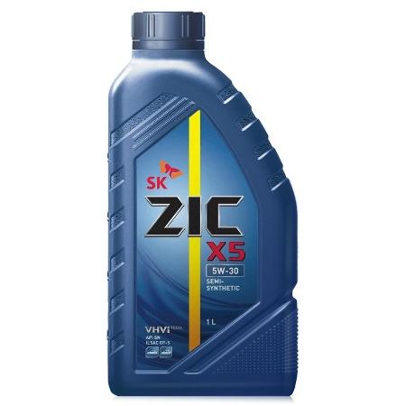 ZIC X5 Diesel , 5W30, SL/CF,  полусинтетика, 1л, Корея