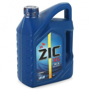 ZIC X5 Diesel , 5W30, SL/CF,  полусинтетика, 4л, Корея
