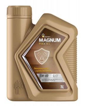 Роснефть Мagnum Maxtec, 5w40 SL/CF,   полусинтетика, 1л, Россия