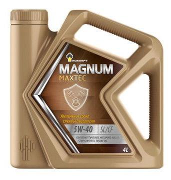 Роснефть Мagnum Maxtec, 5w40 SL/CF,   полусинтетика, 4л, Россия