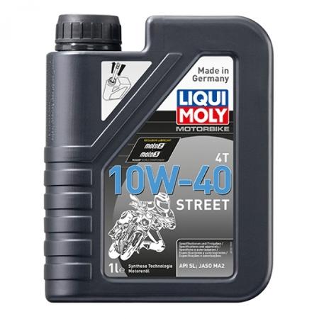 LIQUI MOLY,  Motobike 4T Street 10W-40 (HC-синтетическое) для 4-х тактных двигателей, 7512, 1л, Германия