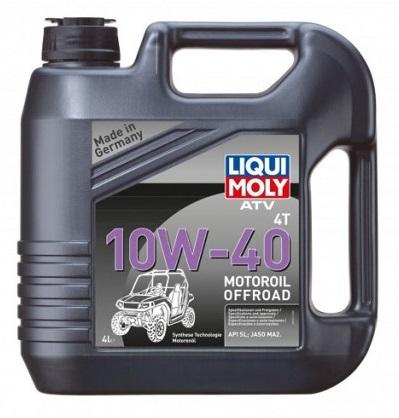 LIQUI MOLY,  ATV 4T Motoroil 10W-40 (HC-синтетическое) для квадроциклов,7541, 4л, Германия
