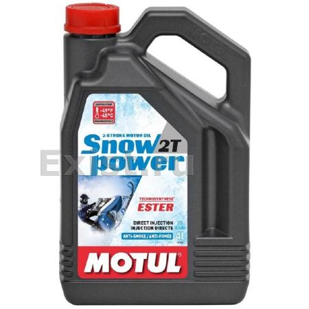 МOTUL SnowPower 2Т FL Technosynt, для 2-хтактных, полусинтетика, 4л, Франция