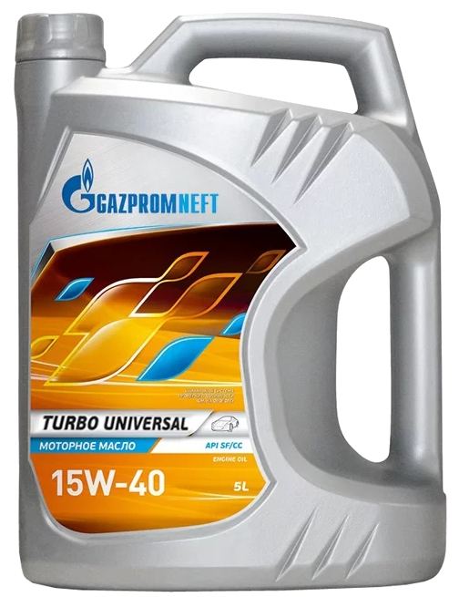 Gazpromneft Turbo Univers, 15W-40, CD, 5л, Россия