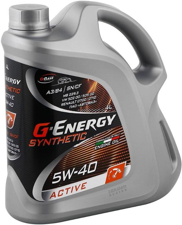 G-Energy Synthetic Active, SN/CF, синтетика, 4л, Россия