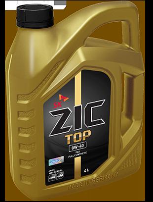 ZIC TOP, 0W40, API SM/CF, моторное масло, синтетика, 4л, Корея