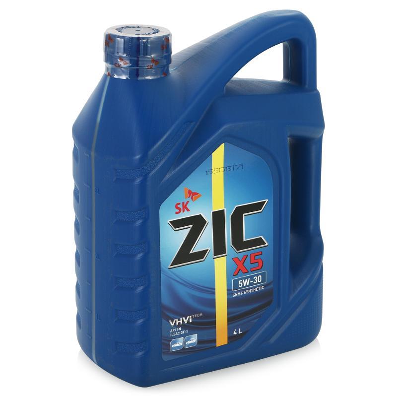 ZIC Х5, 5W30 SN,  полусинтетика, 4л, Корея