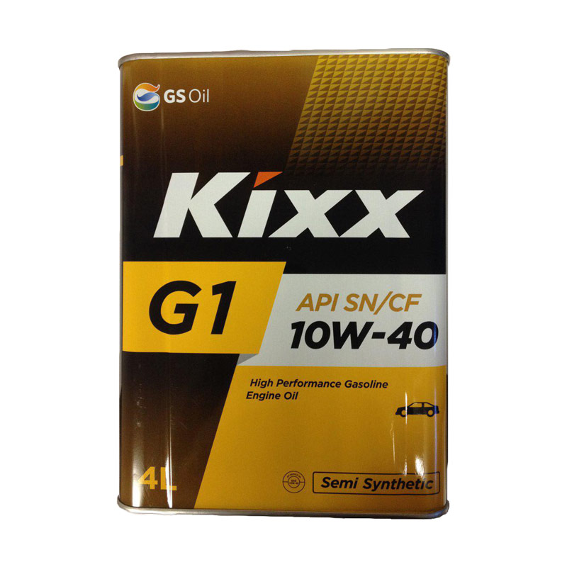 Kixx SN, 10W40, полусинтетика, 4л, Корея
