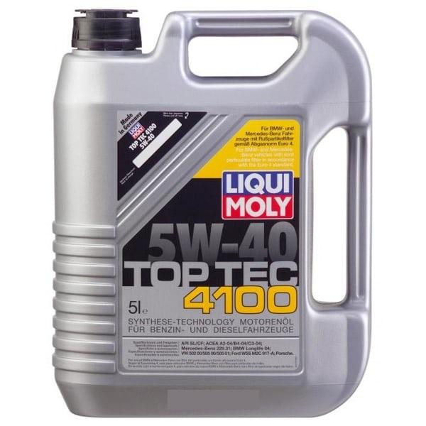 LIQUI MOLY TopTec 4100, HC, 5W/40, синтетика, 5л, Германия