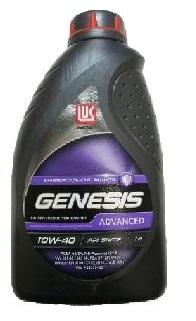 Лукойл Genesis Advanced, 10w40, SN/CF, моторное масло, полусинтетика, 1л,, Россия