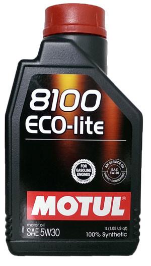 МOTUL 8100 Eco-Lite, 5w-30,  синтетика,1л, Франция