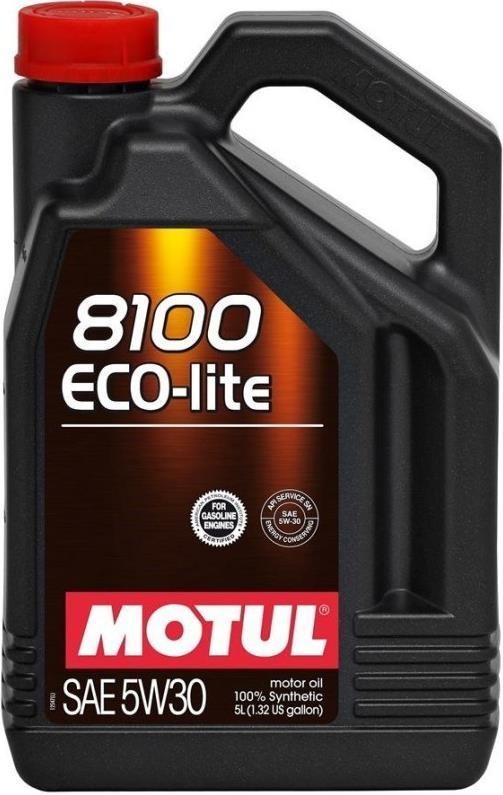 МOTUL 8100 Eco-Lite, 5w-30,  синтетика, 4л, Франция