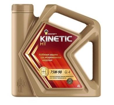Роснефть Kinetic MT, 75w90 GL-4, трансмиссионное, полусинтетика, 4л, Россия