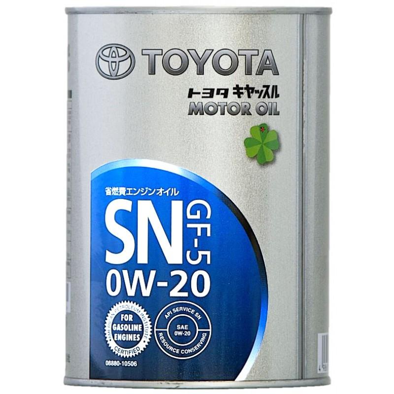 Toyota 0w-20,SN/GF-5, моторное масло, синтетика, 4л, Япония