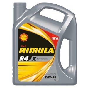 SHELL Rimula R4 X, 15w-40,  минеральное, 4л, Финляндия
