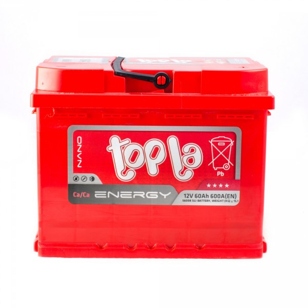 Аккумулятор «Topla»  Energy 60 о (правый) обратная полярность, Словения