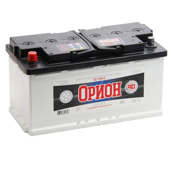 Аккумулятор ОРИОН 90 а/ч L (левый) (прямая полярность), г.Свирск