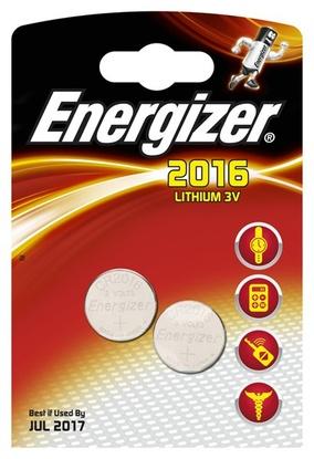Energizer Miniatures Lithium , CR2016 (FSB2), батарейка, 1шт, Индонезия