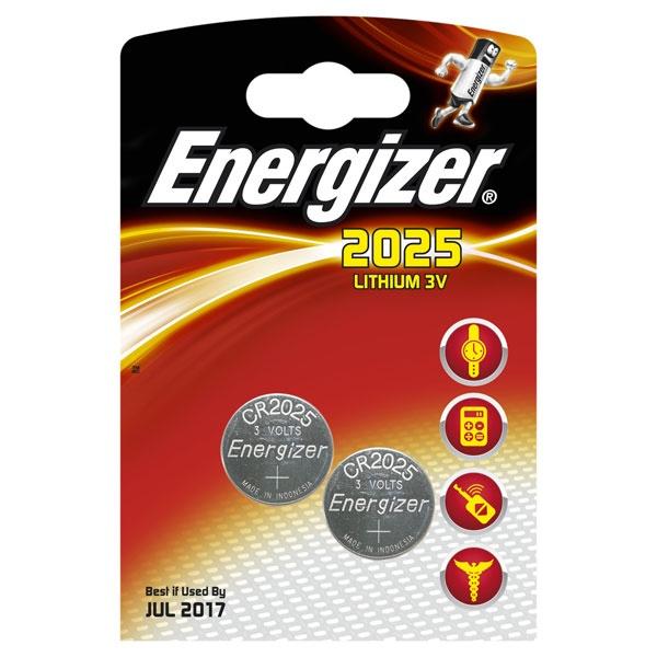 Energizer Miniatures Lithium , CR2025 (FSB2), батарейка, 1шт, Индонезия