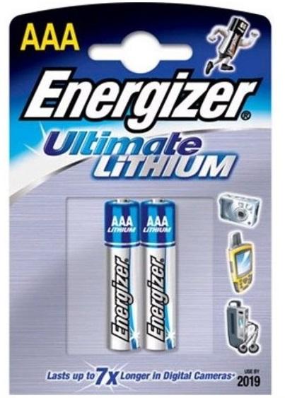 Energizer Ultimate Lithium, AAА/L92 (DFB2), батарейка (мизинчиковая), 1шт, Сингапур