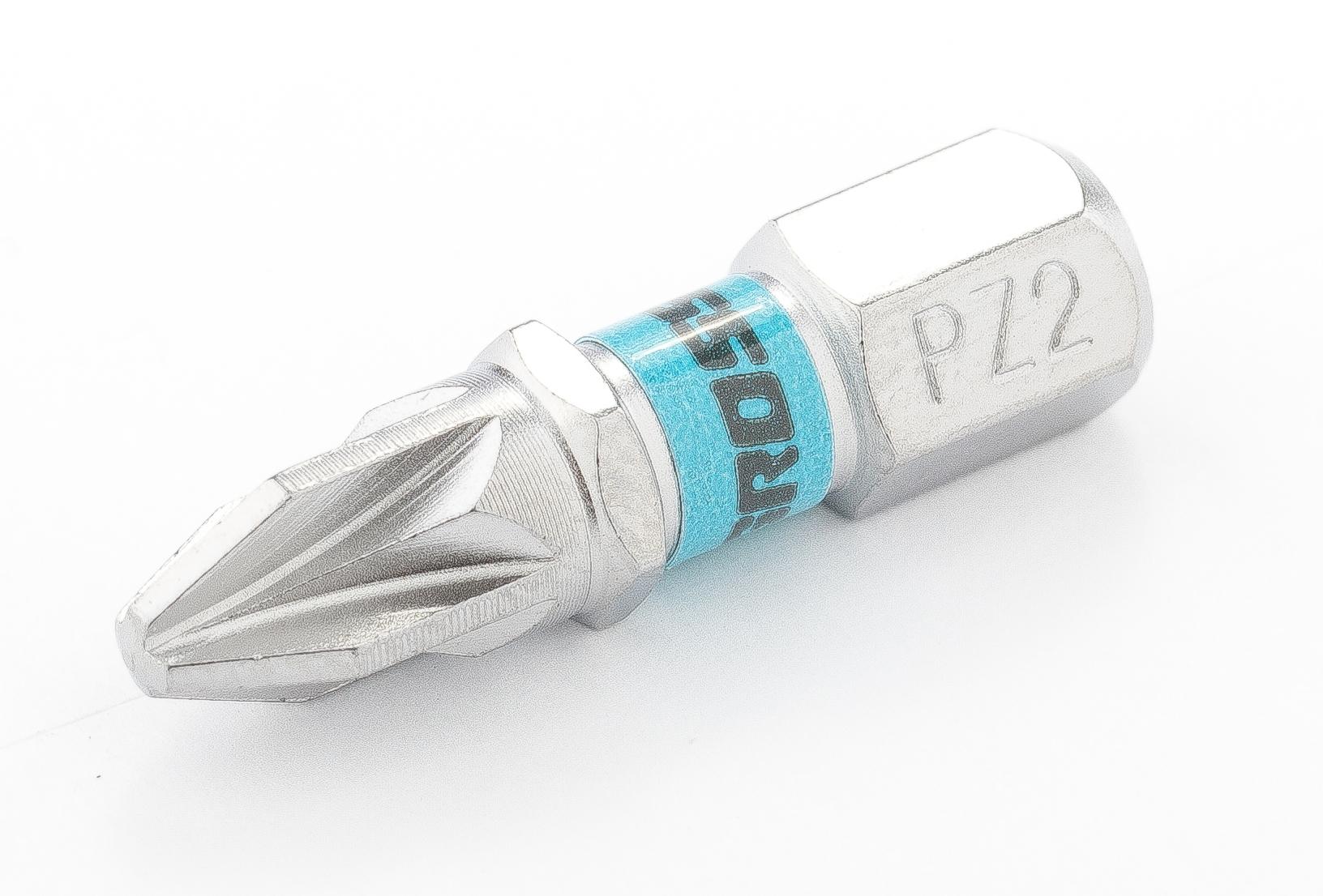 Бита, PZ2*25 (крестовая),  сталь S2, 1шт., Gross