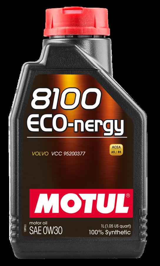 МOTUL 8100 Eco-nergy, 0w-30, A5/B5, моторное масло, синтетика, 1л, Франция