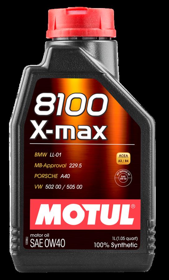 МOTUL 8100  X-Max, 0w-40,  моторное масло,  синтетика, 4л, Франция