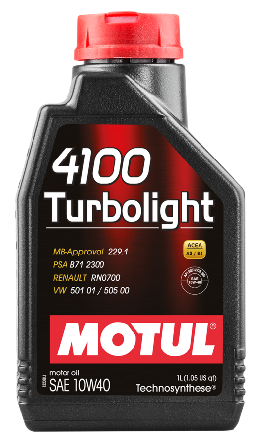 МOTUL 4100 Turbolight, 10w-40,  полусинтетика, 1л, Франция