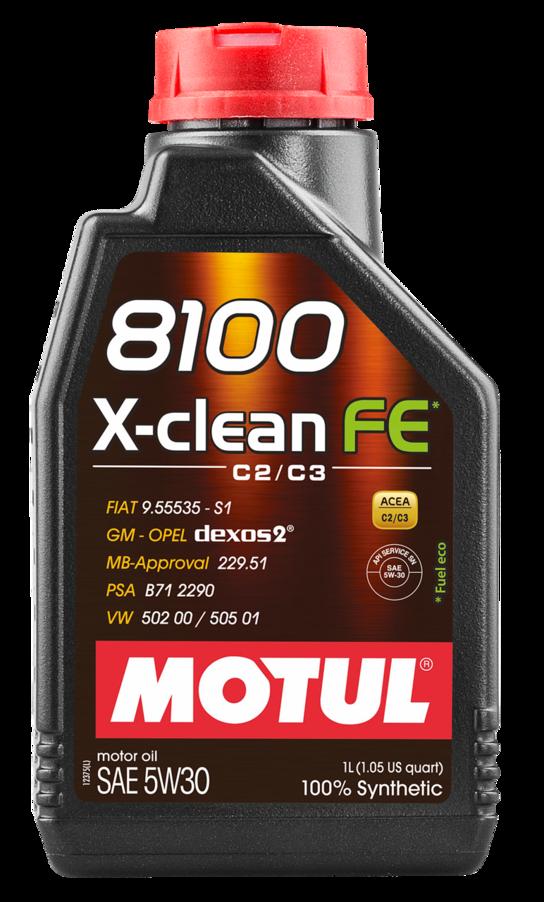 МOTUL 8100 X-Clean FE,  5w-30,  синтетика, 1л, Франция