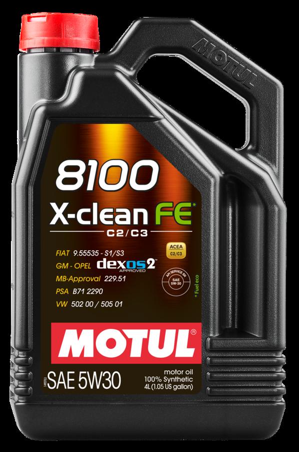 МOTUL 8100 X-Clean FE,  5w-30,  синтетика, 4л, Франция